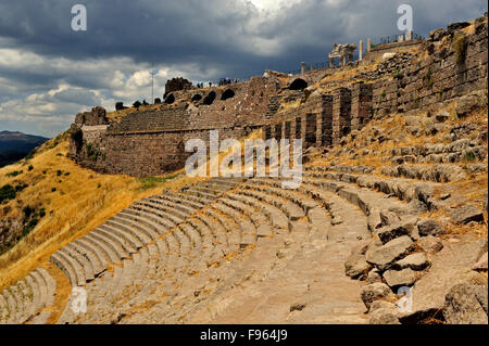 ancient Greek and Roman city of Pergamon, Bergama, Turkey - Stock Photo