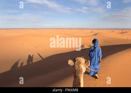 Erg Chebbi Sahara Morocco - Stock Photo