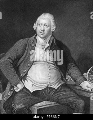 Sir Richard Arkwright, 1732-1792, a leading entrepreneur during the early Industrial Revolution, - Stock Photo