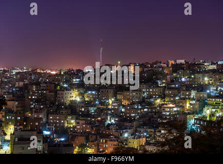 Amman by Night - Stock Photo