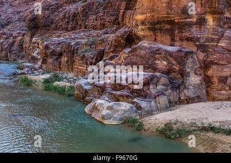 Beautiful Wadi Mujib in Jordan - Stock Photo