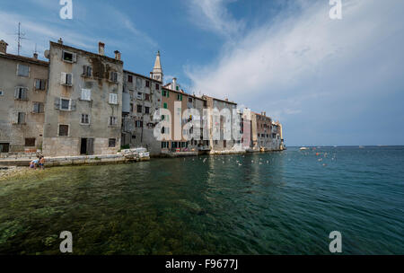 Romantic Rovinj is a town in Croatia situated on the north Adriatic Sea Located on the western coast of the Istrian - Stock Photo