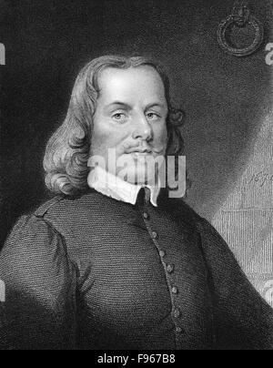 John Bunyan, 1628-1688, an English Christian writer and preacher, - Stock Photo