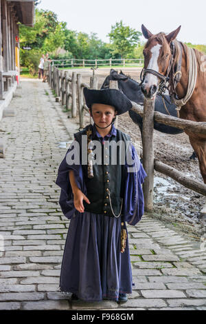 Hungary is home to an array of unusual animals and farming practices. Flamboyant csikos horsemen (hungarian cowboy) - Stock Photo