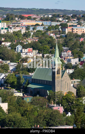 View of St. John's from Shea heights, Newfoundland, Canada - Stock Photo
