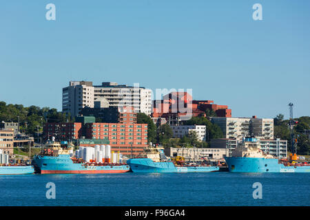 View of St. john's Waterfront, Newfoundland, Canada - Stock Photo