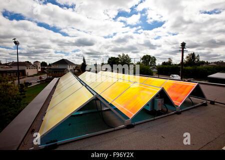 Solar panels, Alberta, Canada. - Stock Photo