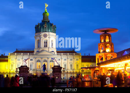 Christmas Market in front of Charlottenburg Palace, Berlin, Germany - Stock Photo