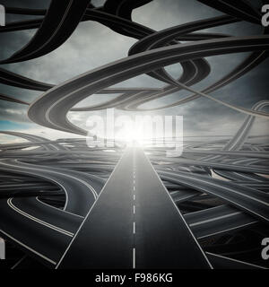 Easy way - Stock Photo