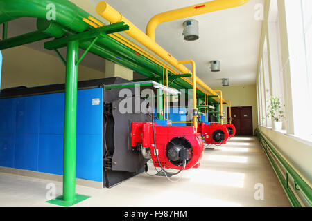 Modern heating system with pipes in a apartment building for Room heating system