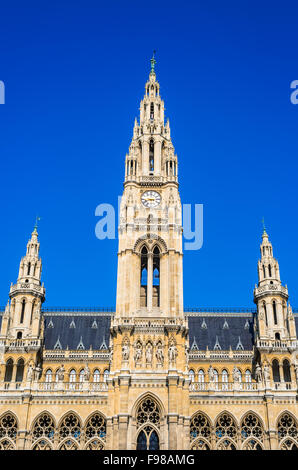 Vienna, Austria. The outside of part of the Rathaus in Vienna which serves as the Town Hall. - Stock Photo