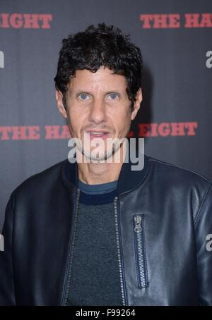 New York, NY, USA. 14th Dec, 2015. Michael Diamond, Mike D of the Beastie Boys at arrivals for THE HATEFUL EIGHT - Stock Photo