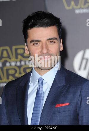 Los Angeles, CA, USA. 14th Dec, 2015. Oscar Isaac at arrivals for STAR WARS: THE FORCE AWAKENS Premiere, TCL Chinese - Stock Photo