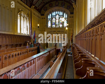 Interior of The Church of St. Nicholas in Castro a chapel at Carisbrooke Castle  near Newport Isle of Wight England - Stock Photo
