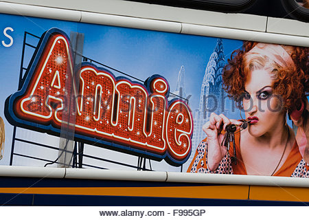 Poster for Annie the Musical starring Jodie Prenger - Stock Photo