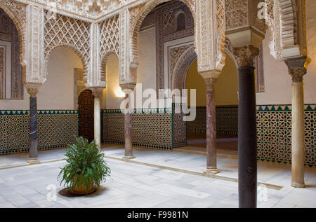 Royal Alcazar,`Patio de las Muñecas´,Courtyard of the Wrists,Sevilla,Andalucía,Spain - Stock Photo