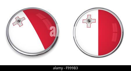 Banner Button Malta - Stock Photo