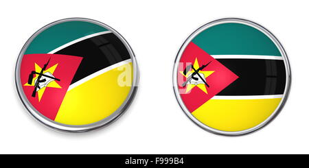 Banner Button Mozambique - Stock Photo