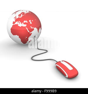 Surf the World - Glossy Red - Stock Photo