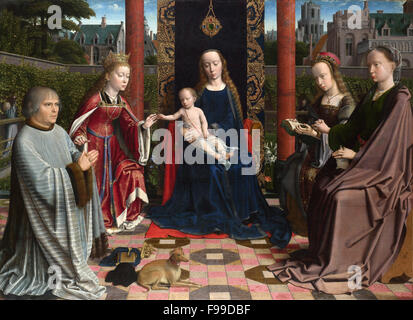 Gerard David - The Virgin and Child with Saints and Donor - Stock Photo