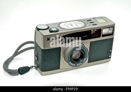 Nikon 35Ti quality compact 35mm film camera - Stock Photo