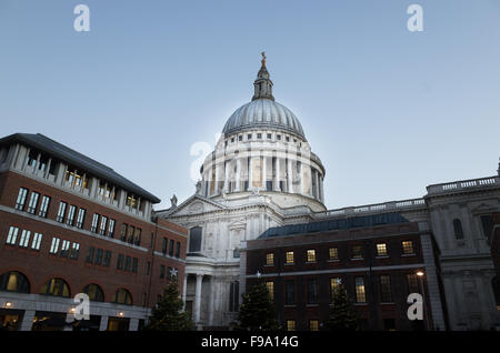 Dome of St Paul's cathedral, London, evening time. - Stock Photo