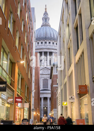 Dome at St Paul's cathedral, London, late evening. - Stock Photo