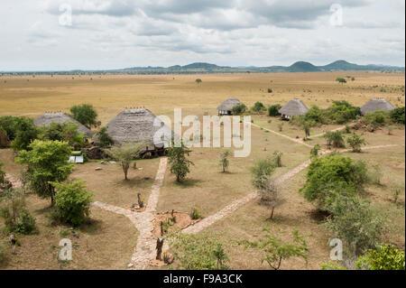 Apoka Safari Lodge, Kidepo Valley National Park, Uganda - Stock Photo