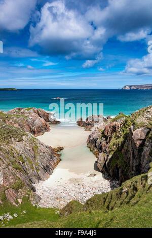 Ceannabeinne Bay, near Durness in the far north western tip of mainland Scotland - Stock Photo