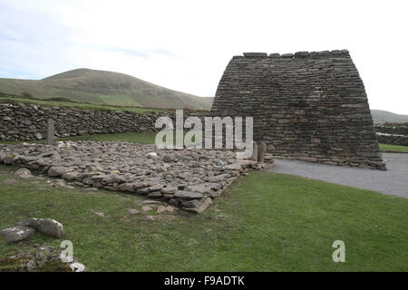 Gallarus Oratory at Ballydavid, Dingle Peninsula, County Kerry, Ireland. - Stock Photo
