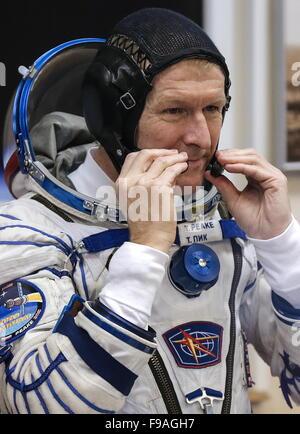 Baikonur, Kazakhstan. 15th Dec, 2015. ISS Expedition 46/47 crew member, ESA astronaut Timothy Peake before the launch - Stock Photo