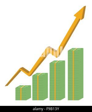 Cash business graph vector design - Stock Photo