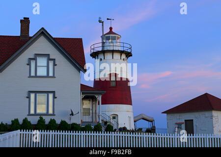Stratford Point Lighthouse, Bridgeport, Connecticut, USA - Stock Photo