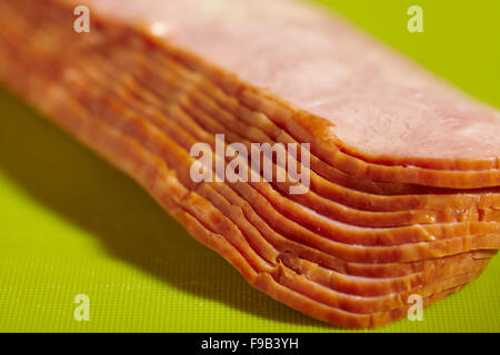 raw sliced turkey bacon - Stock Photo