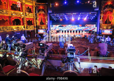 Las Vegas, Nevada, USA. 15th Dec, 2015. The stage has been prepared at 'The Venetian' hotel in Las Vegas, Nevada, - Stock Photo