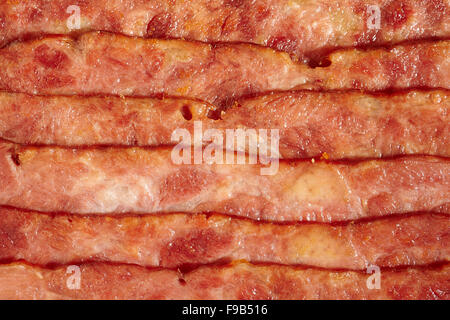 cooked turkey bacon - Stock Photo