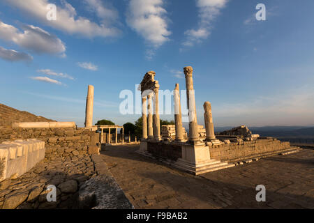 Temple of Trajan at Pergamon, an ancient Greek city - Stock Photo