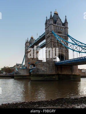 Tower Bridge and the City of London skyline early morning 2015 - Stock Photo