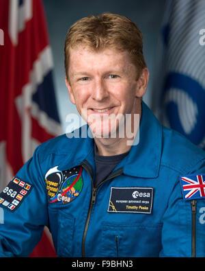 Tim Peake, British astronaut Timothy Peake. Official NASA portrait of British astronaut Timothy Peake - Stock Photo