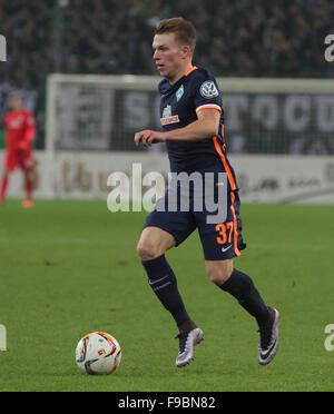 Moenchengladbach, Germany. 15th December, 2015. Football, DFB Cup, last 16, Borussia Moenchengladbach vs Werder - Stock Photo