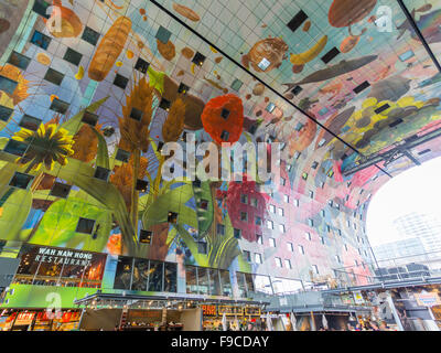 Rotterdam Market Hall (Markthal / Koopboog), a residential and office building with a market hall underneath at - Stock Photo