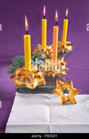 Christmas Yeast Candle Holders - Stock Photo