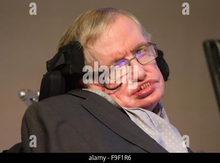 Professor Stephen Hawking speaks at The Royal Society after the announcement of a new award called the Stephen Hawking - Stock Photo