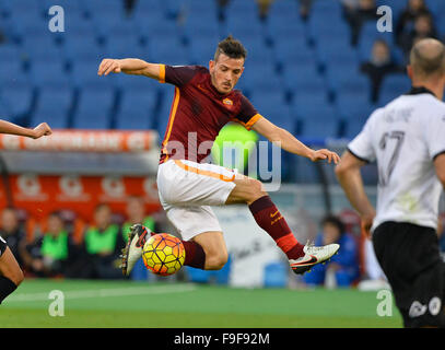 Rome, Italy. 16th Dec, 2015. Alessandro Florenzi during the Italian Cup football match A.S. Roma vs A.S. Spezia - Stock Photo