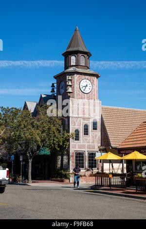 Danish Tower, First Street, Solvang, Ynez Valley, Santa Barbara County, California, USA. - Stock Photo