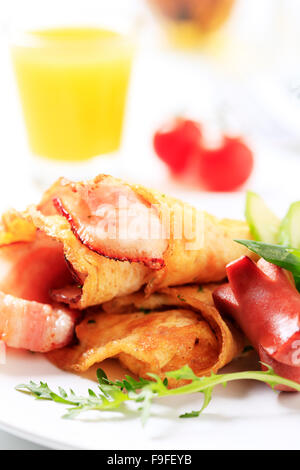 Cooked breakfast - Stock Photo