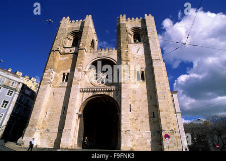 portugal, lisbon, alfama district, cathedral - Stock Photo