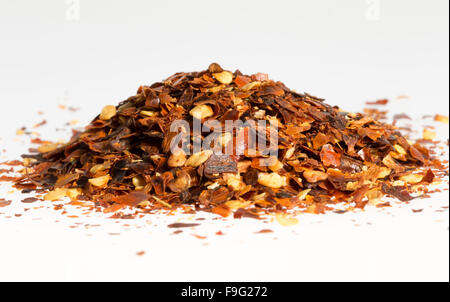 Dried Chili Pepper in a Pile - Stock Photo
