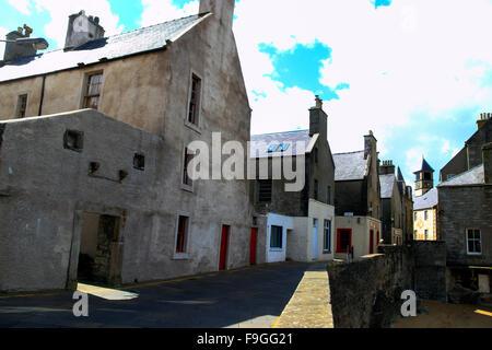 Commercial Street Lerwick Old Town Shetland Islands Scotland UK - Stock Photo