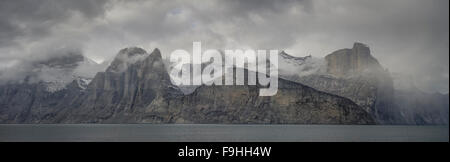 SAMFORD FJORD  NORTHEAST FJORDS  BAFFIN ISLAND     CANADA - Stock Photo